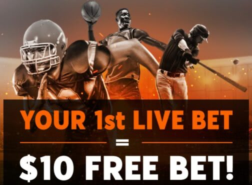 Get a $10 free bet with your first live bet on 888 Sport NJ