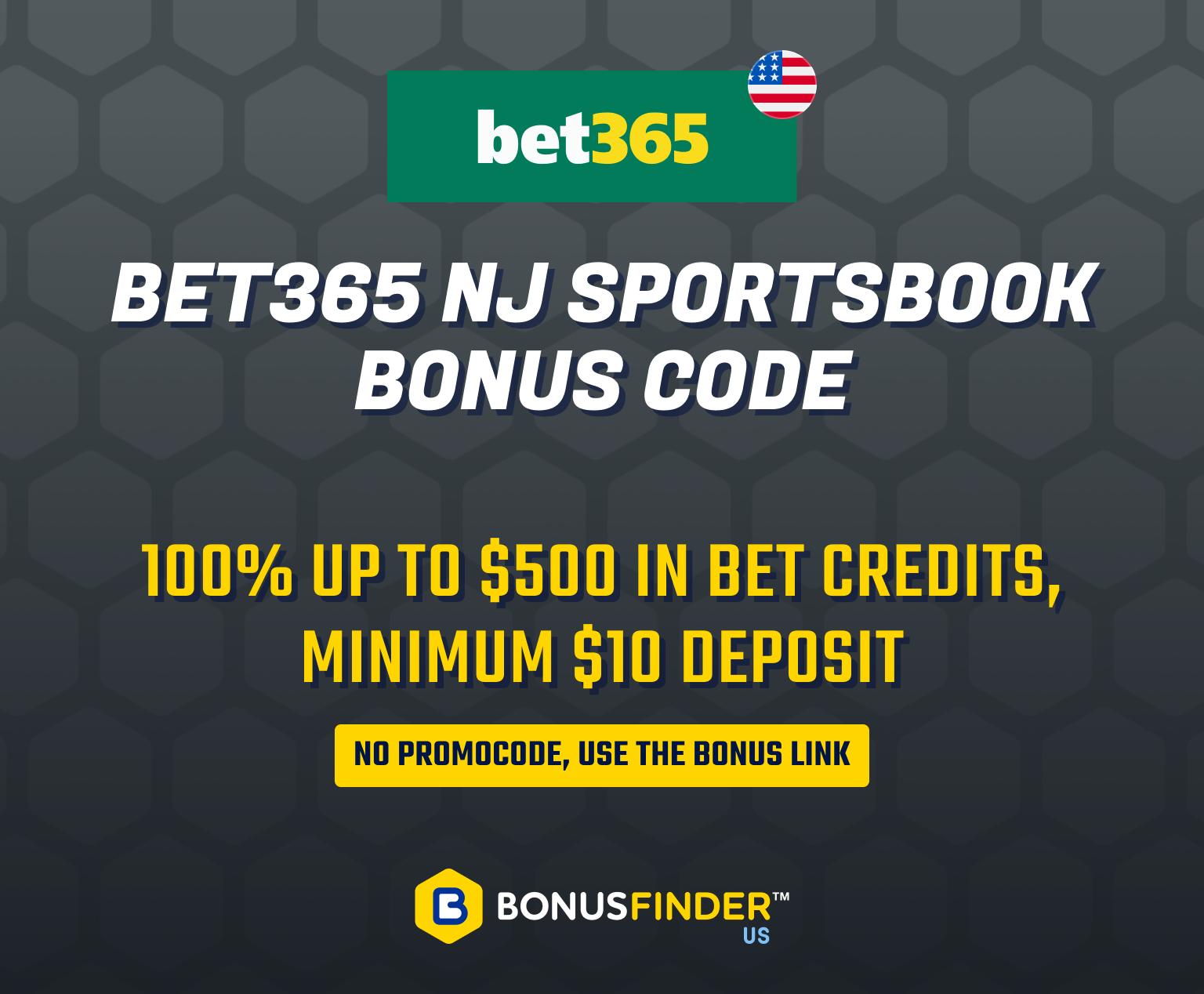 bet365 nj bonus code