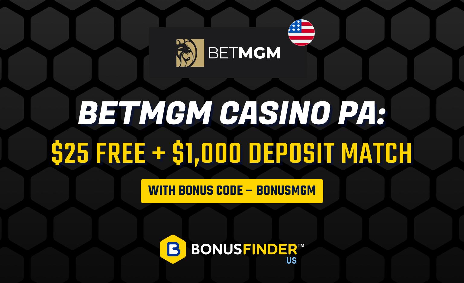 BetMGM Bonus Code PA