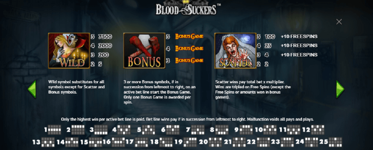 Blood Suckers Bonus