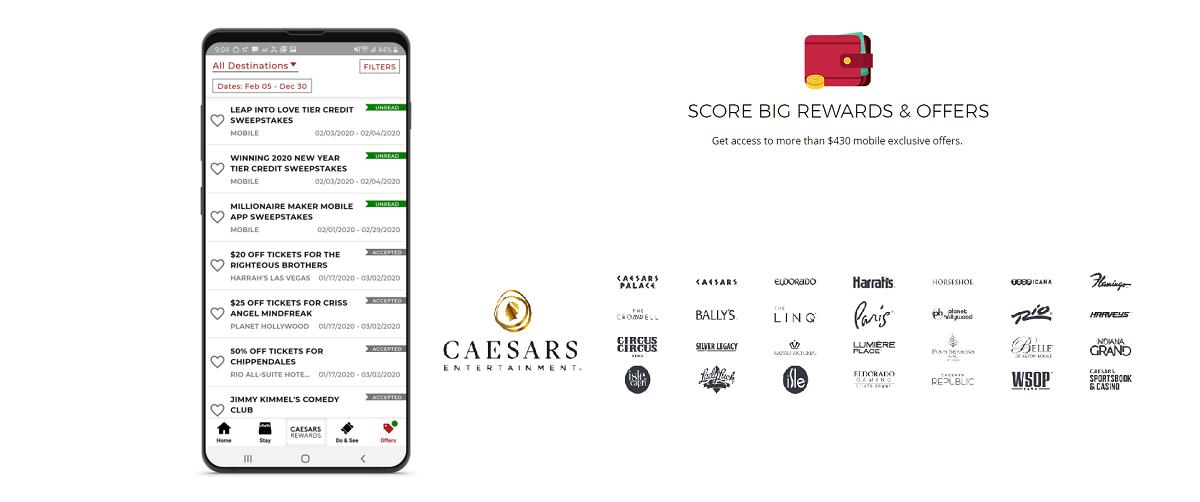 caesars rewards and locations