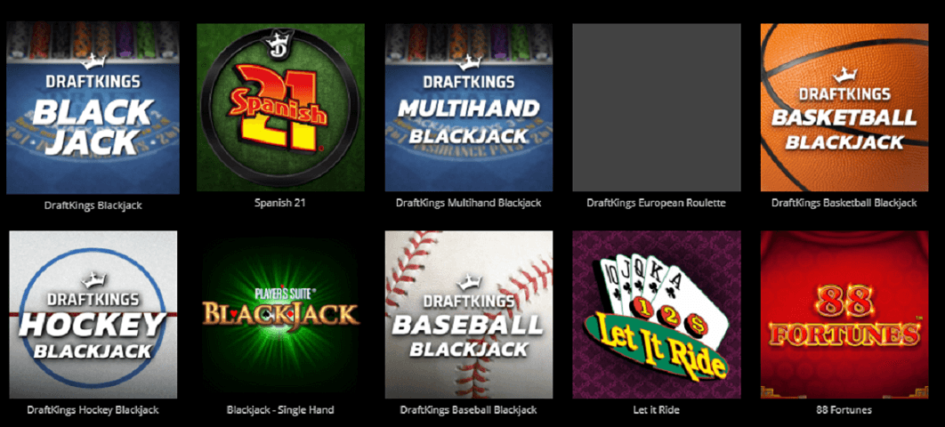 Michigan DraftKings Casino games with promos