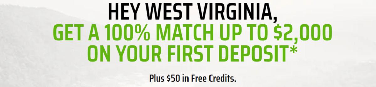 DraftKings WV Free Money
