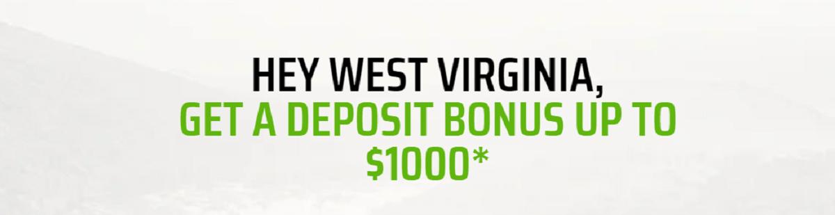 DraftKings WV Sportsbook bonus