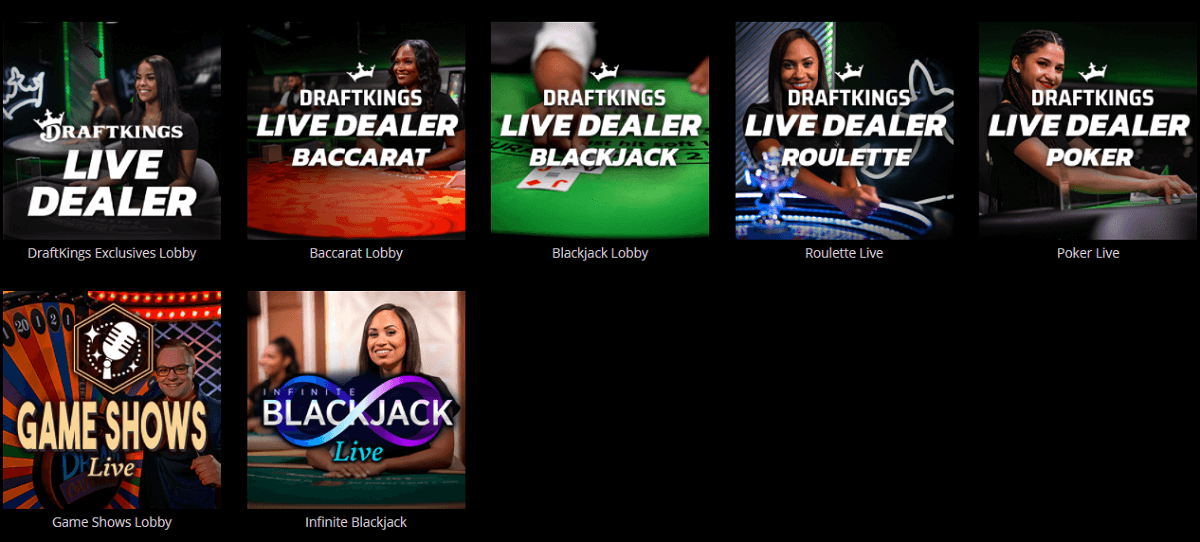 DraftKings casino WV live dealers