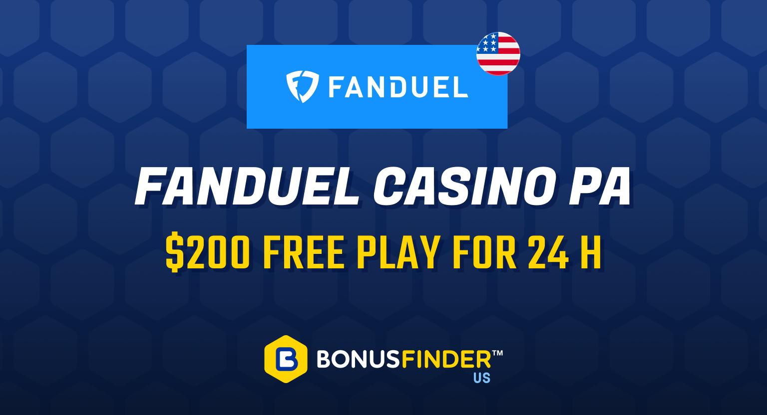 FanDuel Casino PA promo code