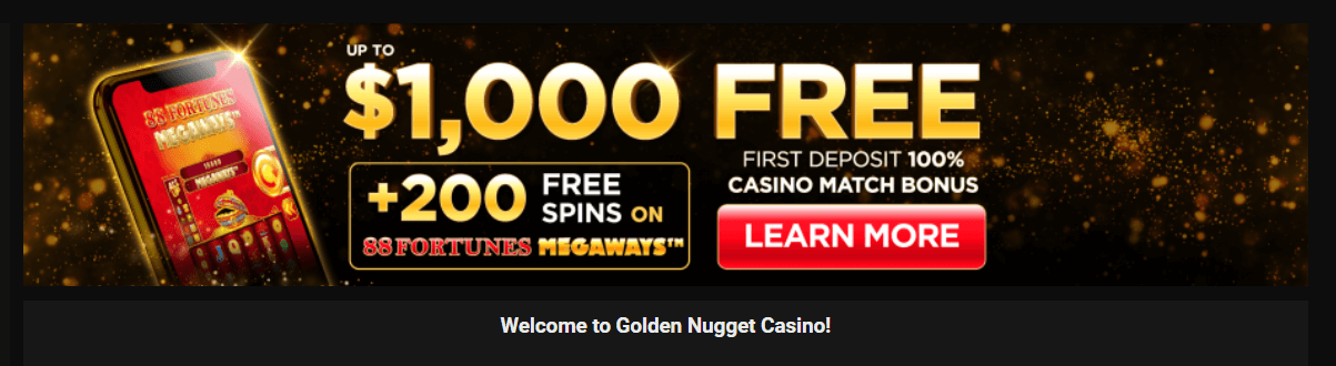 Golden Nugget WV Bonus Code