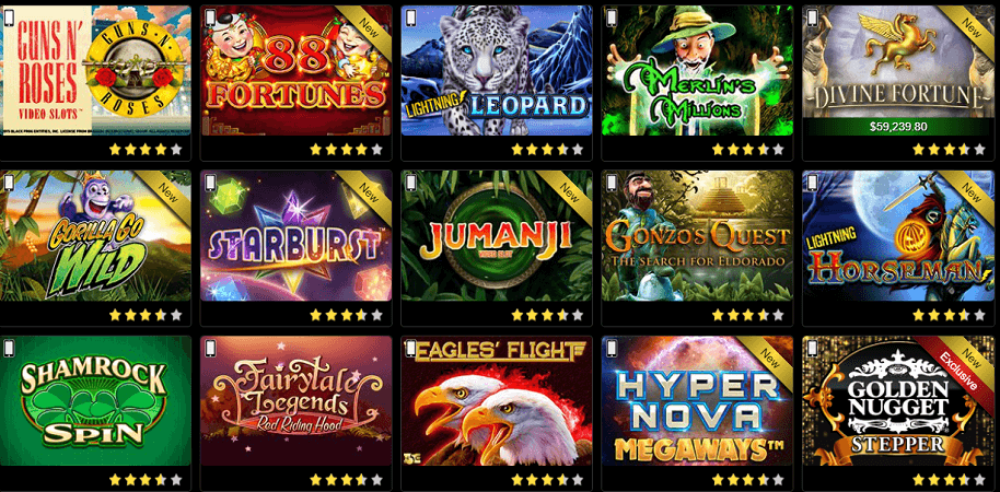 Golden Nugget casino has an array of slot games for players.