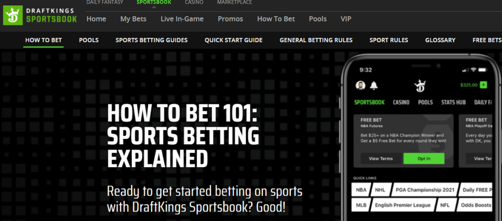 How to bet on DraftKings