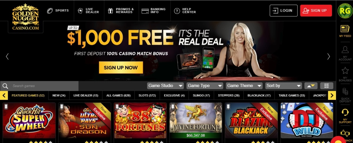 Golden Nugget Online Casino Promo Code Get 10 Free 1000 To Go