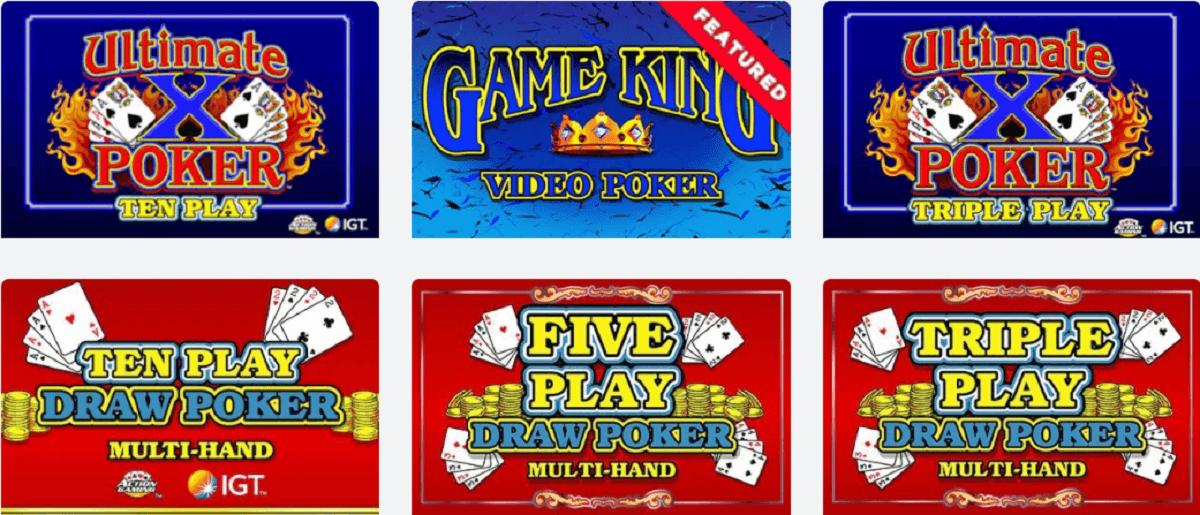 BetRivers video poker