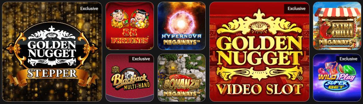 WV Golden Nugget casino games