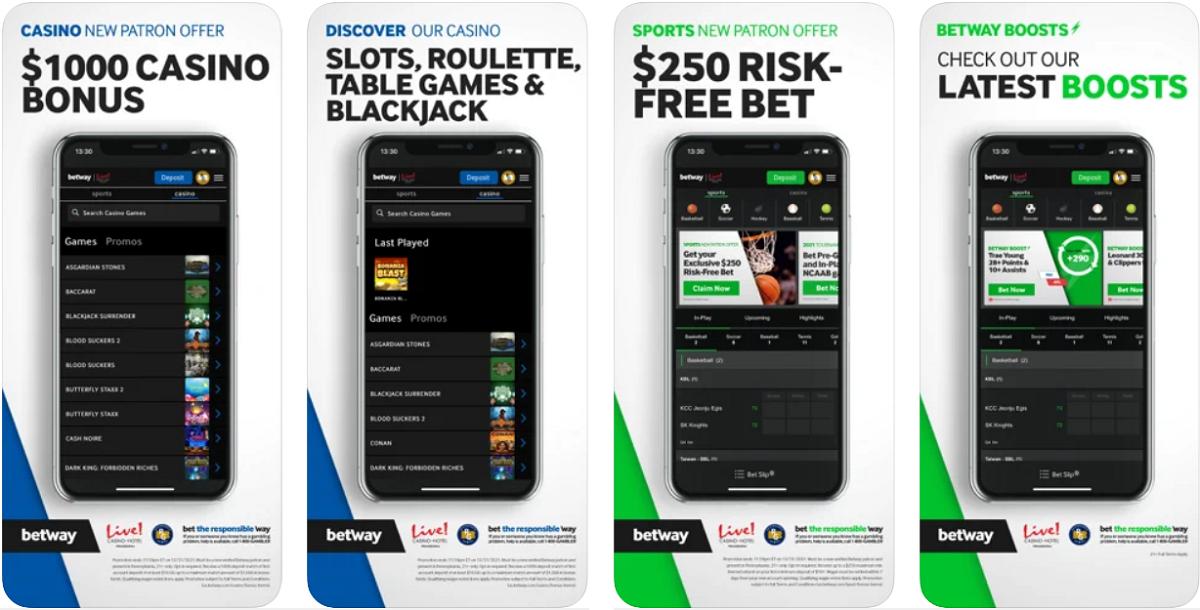 Betway Casino PA App