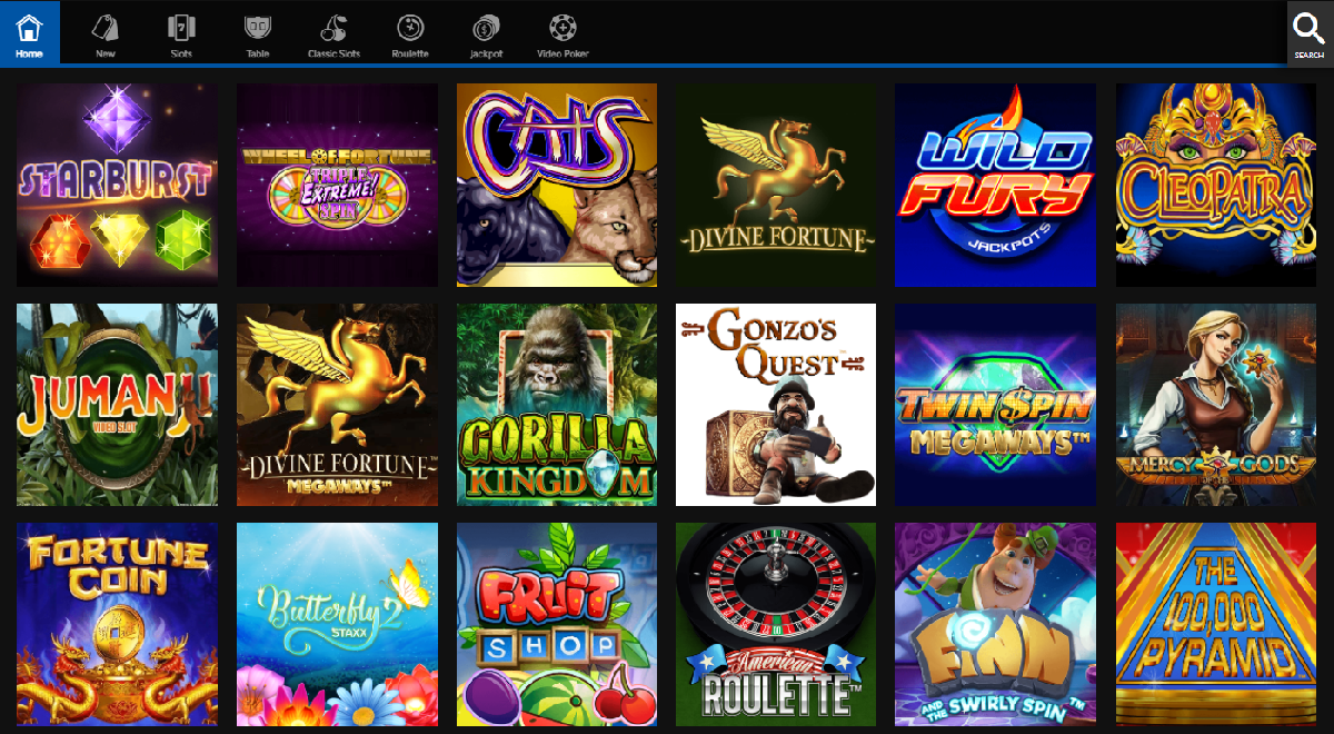 Betway Casino PA games