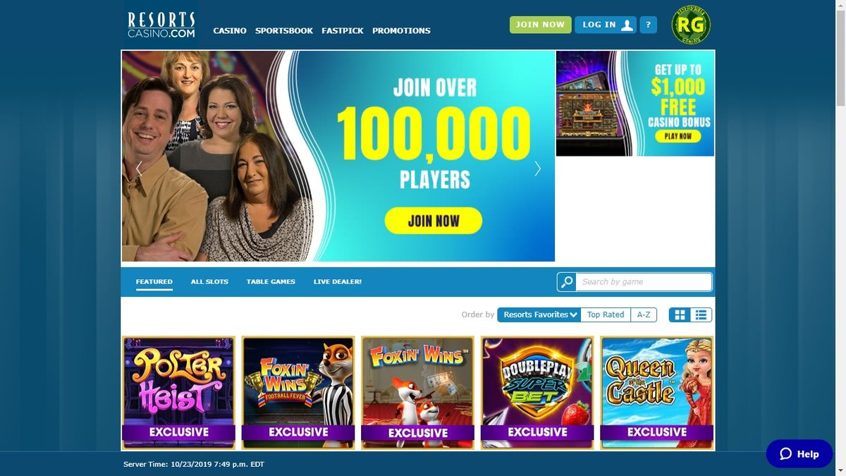 resorts online live casino and slots