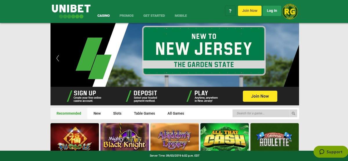 unibet NJ casino