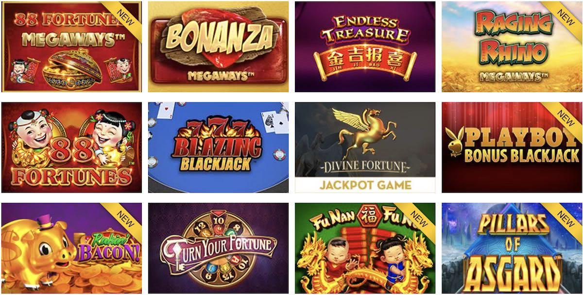 Online slots at Caesars