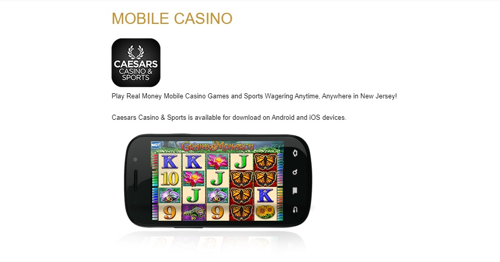 caesars casino mobile app