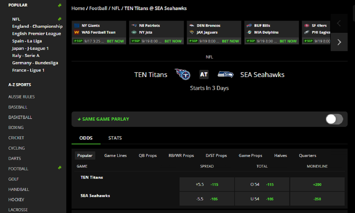DraftKings Tennessee Sports Betting