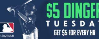 Win cash for HRs on Fanduel $5 Dinger Tuesday