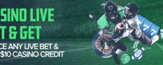 Make a $10 bet on fanduel sportsbook, get a $10 casino bonus