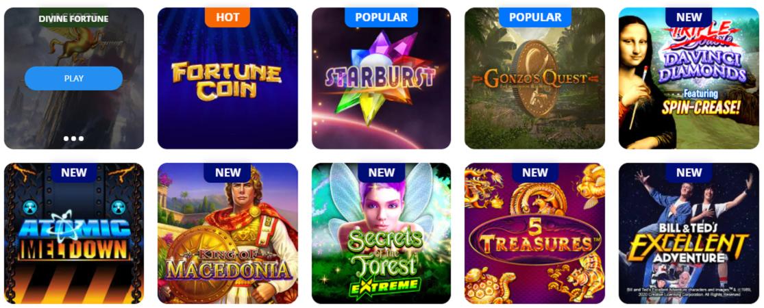 TwinSpires casino games