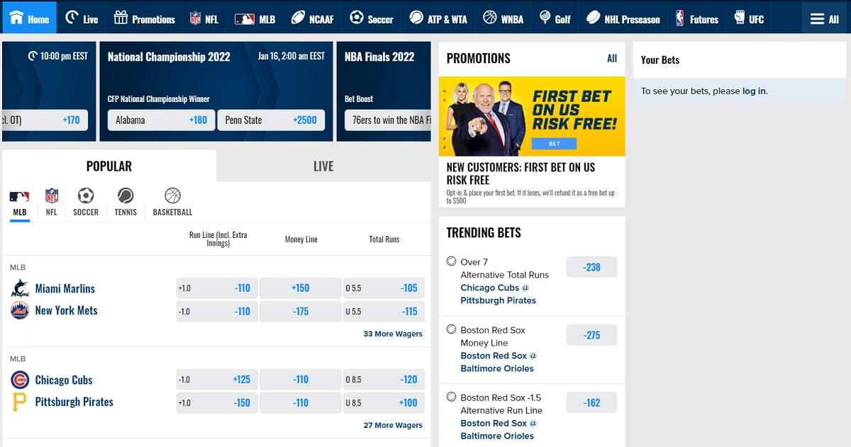 FOX Bet Sportsbook PA