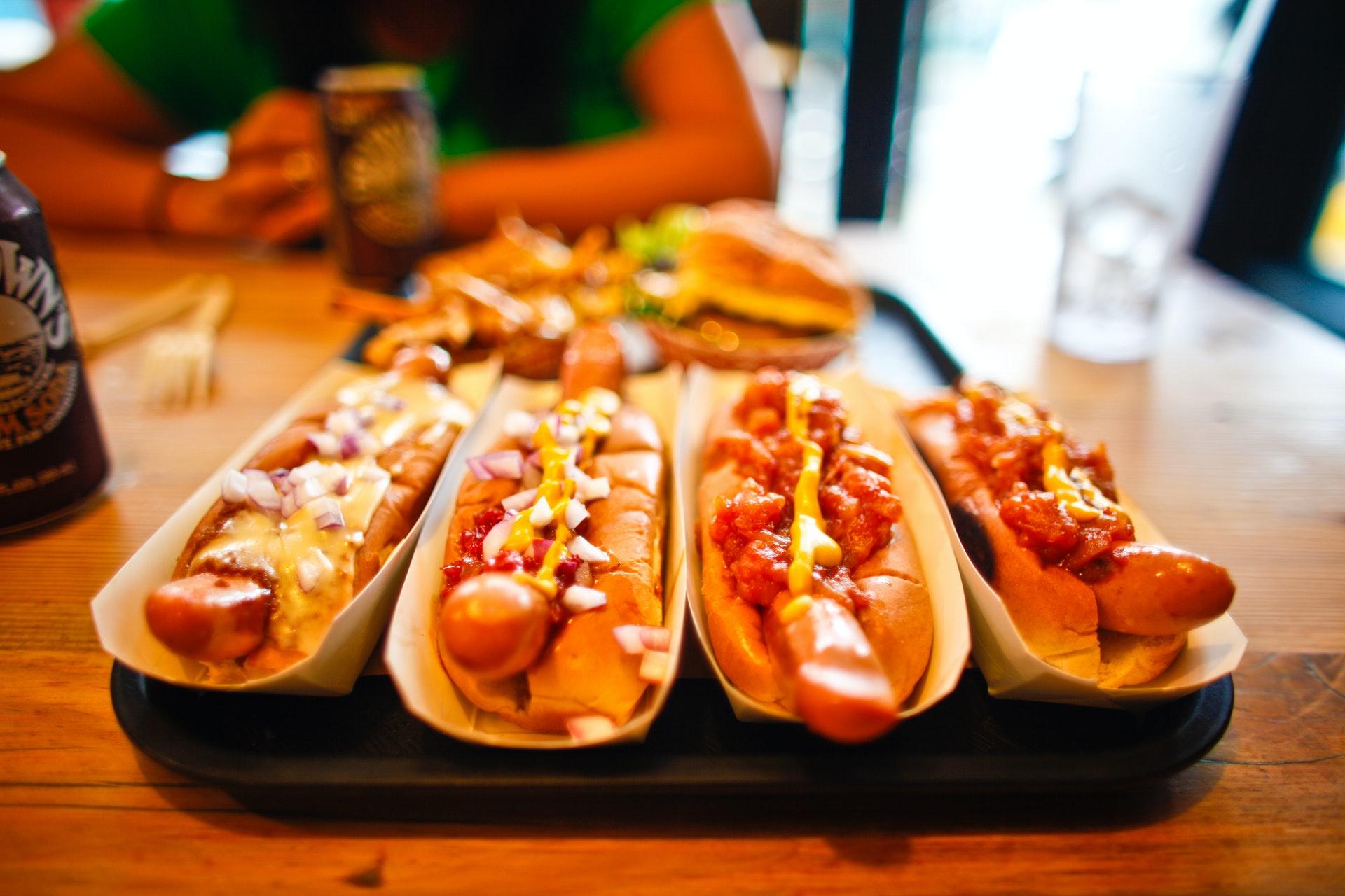 Hotdogs and baseball