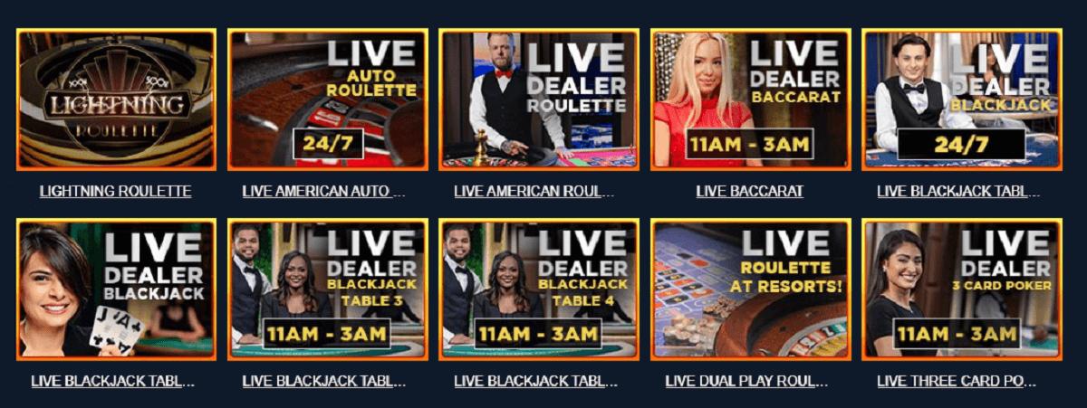 Play live dealer games