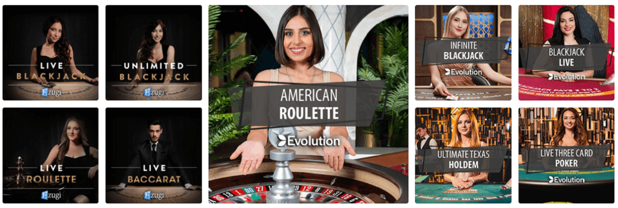 Play live dealer casino games