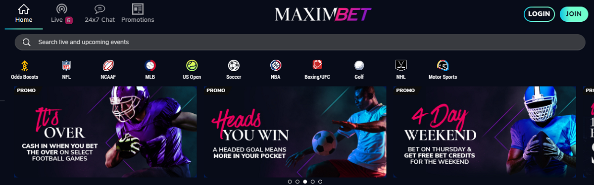 MaximBet website