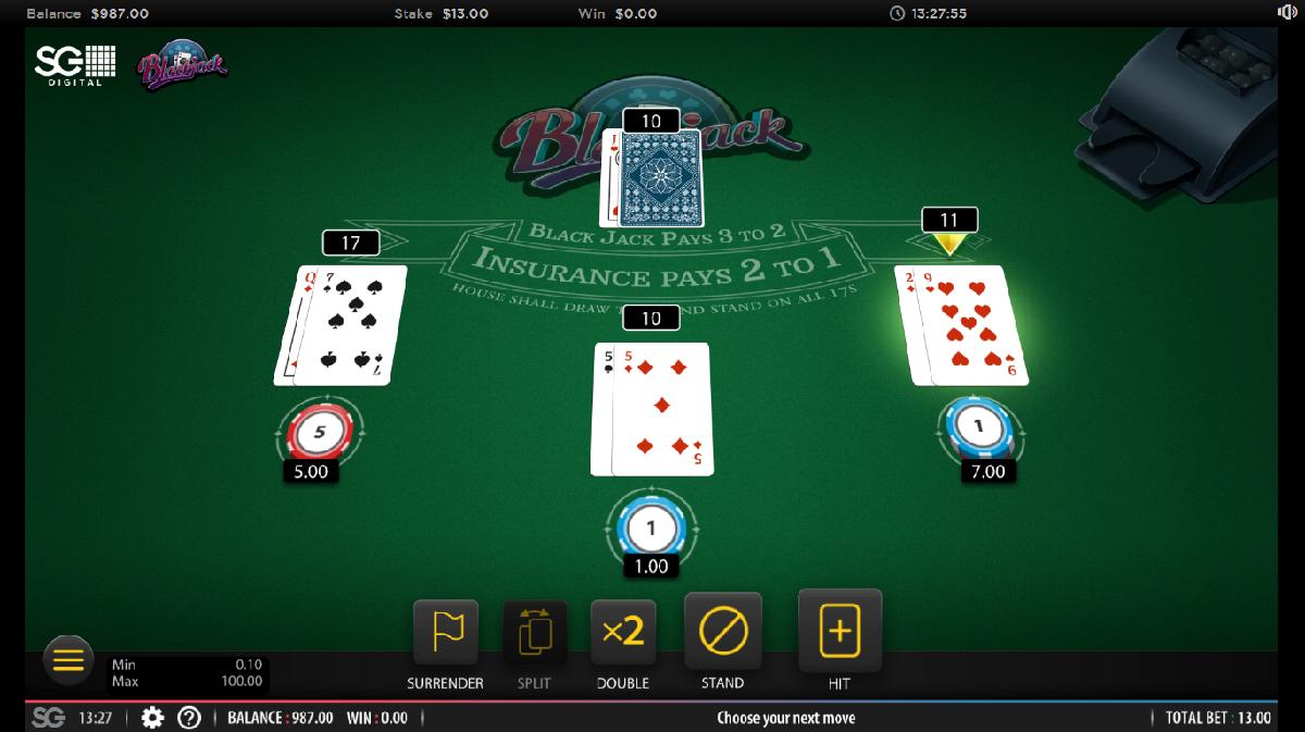 Online Blackjack for Free