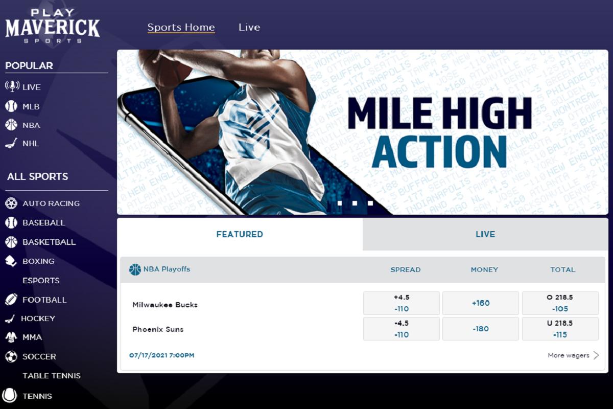Play Maverick Sports site