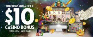 Create an Account with caesars casino to get a $10 no-deposit bonus