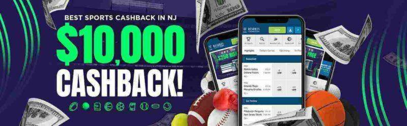 resorts sportsbook $10,000 cashback promo