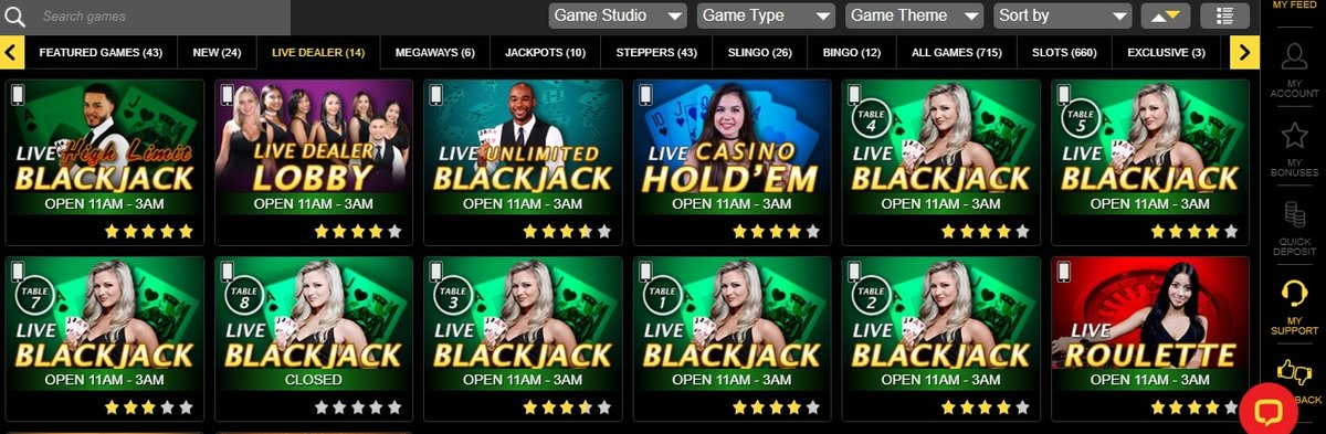 best us live dealer casinos