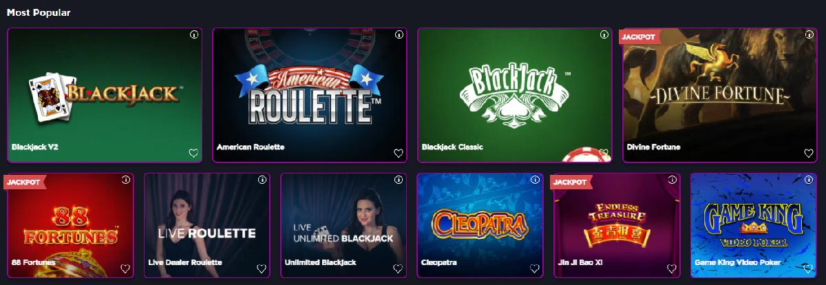 Stardust Casino games