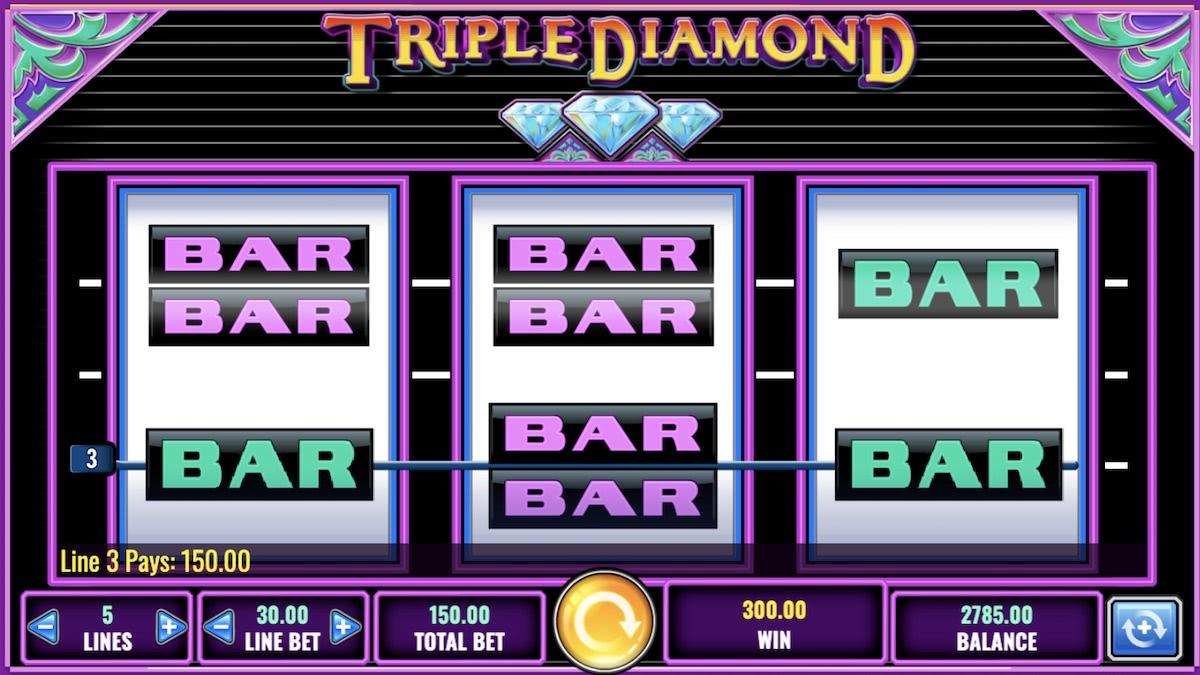 triple diamond online slot