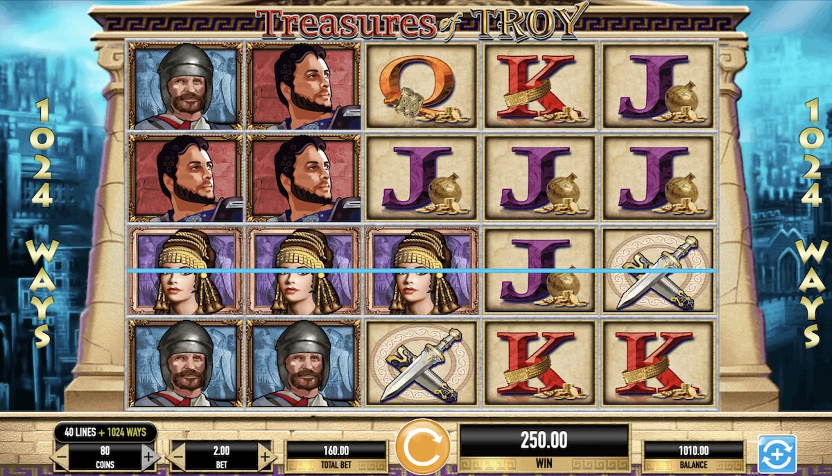 treasures of troy online slot igt
