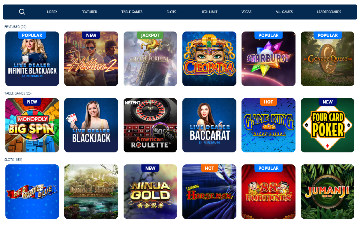 TwinSpires Casino PA games