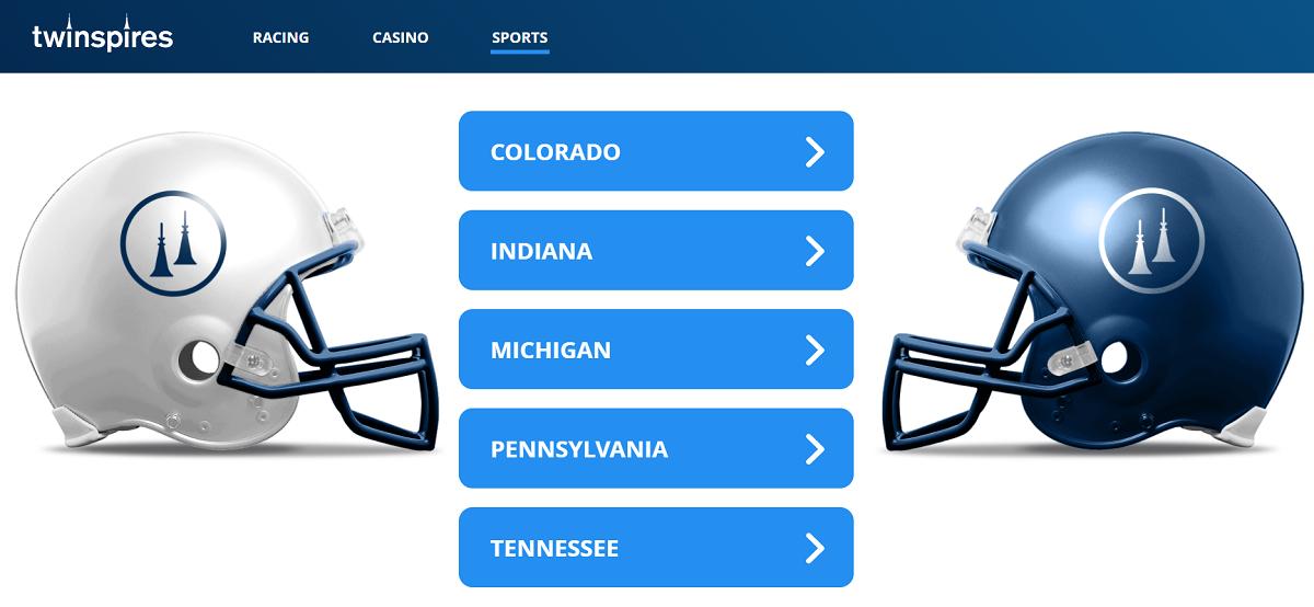 TwinSpires Sportsbook States