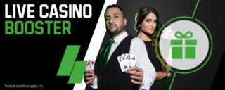 Earn a $5 cash bonus through the unibet live casino booster