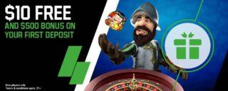 Receive a $10 no-deposit bonus as part of the unibet casino welcome offer